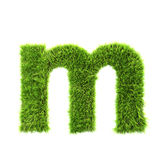 Grass lower-case letter Stock Photography