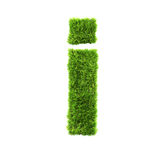 Grass lower-case letter Stock Photo