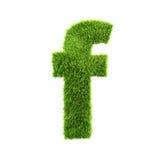 Grass lower-case letter Stock Photo