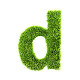 Grass lower-case letter Royalty Free Stock Photos