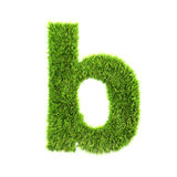 Grass lower-case letter Stock Image