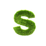 Grass lower-case letter Royalty Free Stock Photo