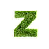 Grass lower-case letter Stock Photos