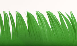 Grass made ​​of paper Stock Photo