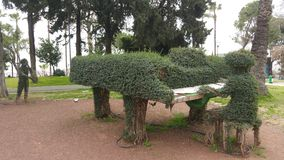Grass man is playing piano at Yavuz Ozcan park, Antalya Royalty Free Stock Image