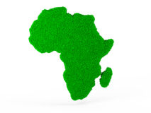 Grass map of Africa Stock Photography