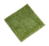 Grass mat isolated on white background Stock Image