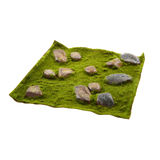 Grass mat with stones Royalty Free Stock Photo