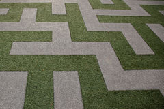 Grass Maze View from Top View Royalty Free Stock Image