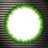 Grass on metal Royalty Free Stock Image