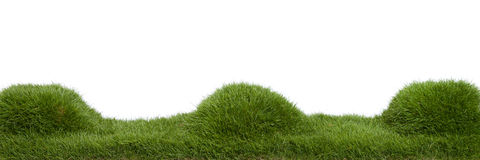 Grass Mounds Panorama Royalty Free Stock Images