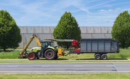 Grass mowing machine Stock Photo