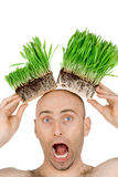 Grass on my head Stock Image