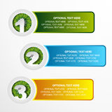 1 2 3 grass option banner set. Presentation Royalty Free Stock Photo