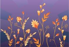 Grass ornament vector. Grass ornament on dark, vector stock illustration