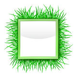 Grass outer green square frame  Stock Photos