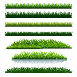 Grass pack2. Silhouette green grass collection pack  graphic Royalty Free Stock Photo