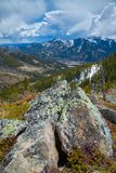 The Grass Pass overlooking the Highwood River valley, Kananaskis, Alberta Royalty Free Stock Images