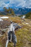 The Grass Pass overlooking the Highwood River valley, Kananaskis, Alberta Royalty Free Stock Image