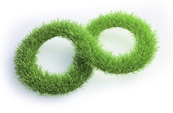 Grass patch shaped like an infinity symbol Royalty Free Stock Photography