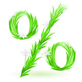 Grass percent Royalty Free Stock Image