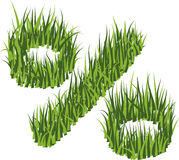 Grass-percents Royalty Free Stock Image