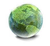 Grass planet Royalty Free Stock Image