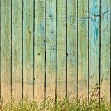 Grass And Planks Background Stock Images