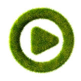 Grass play icon Royalty Free Stock Photo