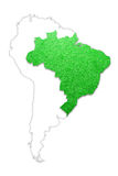 Grass playground Brazil country map Royalty Free Stock Photography