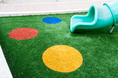 Grass on the playground Royalty Free Stock Photography