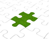 The grass puzzle Stock Photo