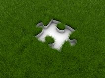 Grass. And puzzle,green background vector illustration