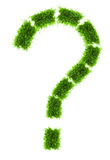 Grass question mark Stock Photos