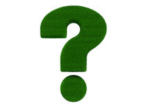 Grass Question Mark Stock Photography
