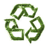Grass recycle symbol. Isolated on white background royalty free illustration