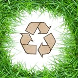 GRASS RECYCLE SYMBOL Stock Image