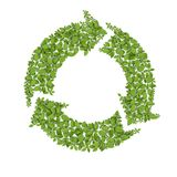 Grass Recycle Symbol. On white stock illustration