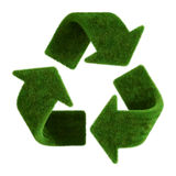 Grass recycle symbol. 3d rendering of a grass recycle symbol royalty free illustration