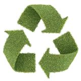 Grass recycle symbol Royalty Free Stock Photos