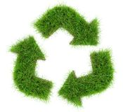 Grass Recycling Arrows stock images