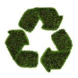 Grass recycling symbol. Isolated on white background Stock Photo