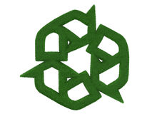 Grass Recycling Symbol Stock Photography