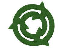 Grass Recycling Symbol Royalty Free Stock Photos