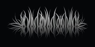 Grass reflect. A grass reflection in black over black water royalty free illustration