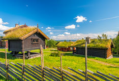 Grass roof country house Stock Photography