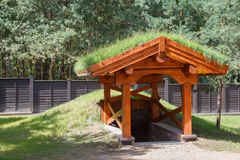 Grass Roof is environmentally friendly design for your house.  Stock Photography