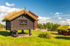Grass roof house Royalty Free Stock Photos