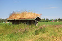 Grass Roof House Stock Photography
