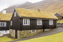 Grass roof house Royalty Free Stock Image